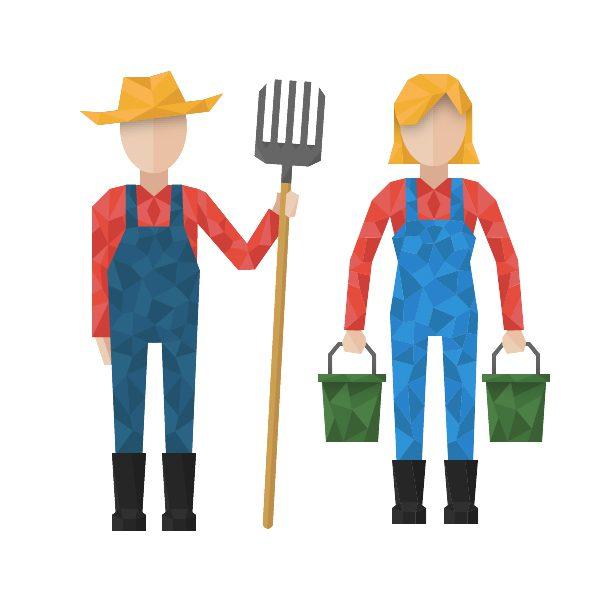 man and lady farmer